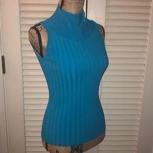 Cache Tops - Caché blue sleeveless top